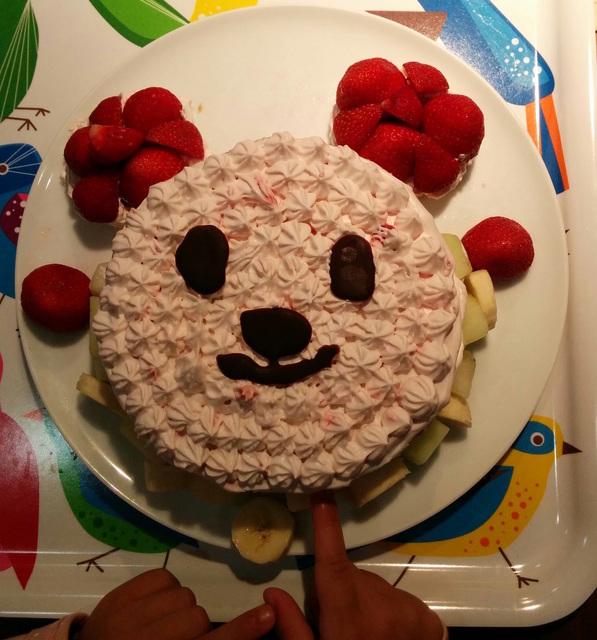 グルテンフリー米粉ケーキ 豆乳イチゴのムースと米粉くまちゃんケーキ(卵・乳・小麦不使用)