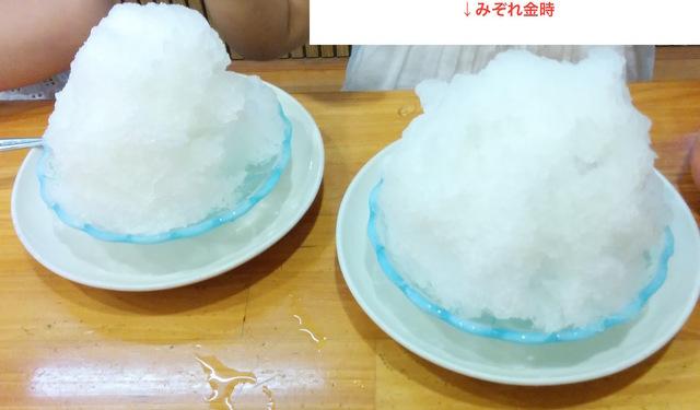 蜂楽饅頭でかき氷!(乳アレルギーでも大丈夫)