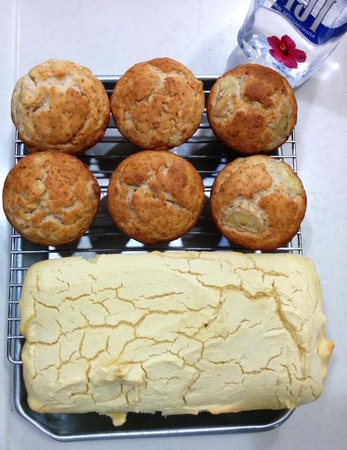 グルテンフリー米粉カレーパンと蒸しパン